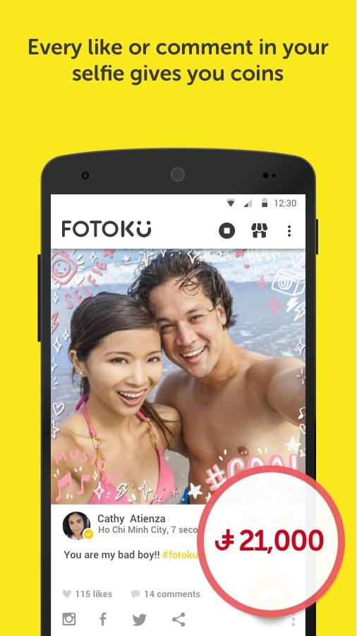 Fotoku Free gifts with selfies- screenshot
