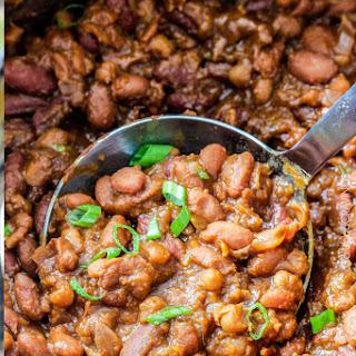 "Slow Cooker Hawaiian ""Baked"" Beans"