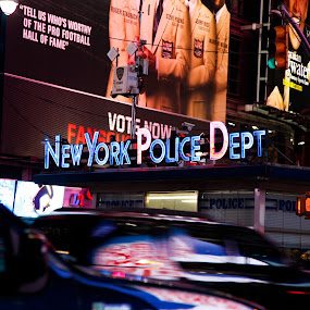 NYPD of Times Square by Surentharan Murthi - Landscapes Travel