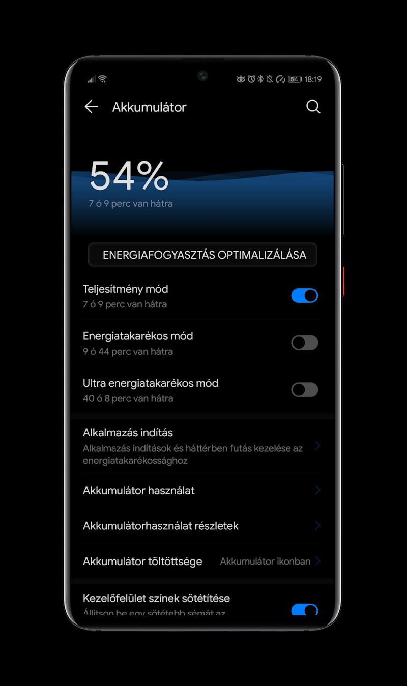 Black Pie Theme for EMUI 9 / 9.1 Huawei/Honor Screenshot 3