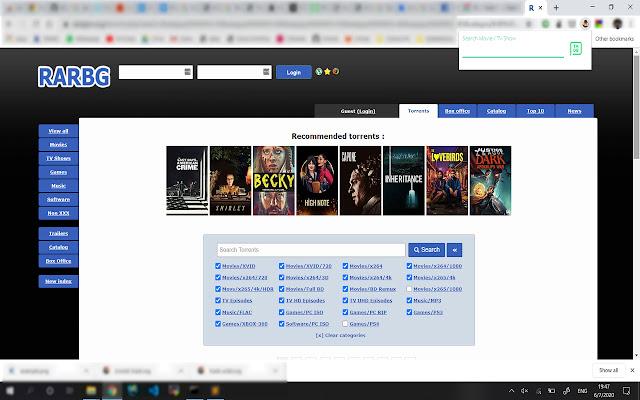Search RARBG Torrents by IMDB ID