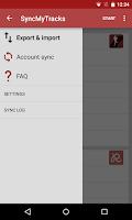 Screenshot of SyncMyTracks