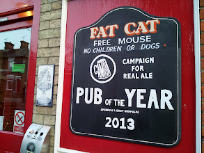 Photo: Fat Cat pub in Ipswich - one of the best real ale selections in town.