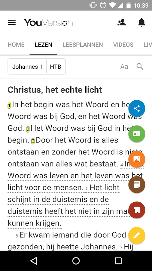 Bijbel: screenshot