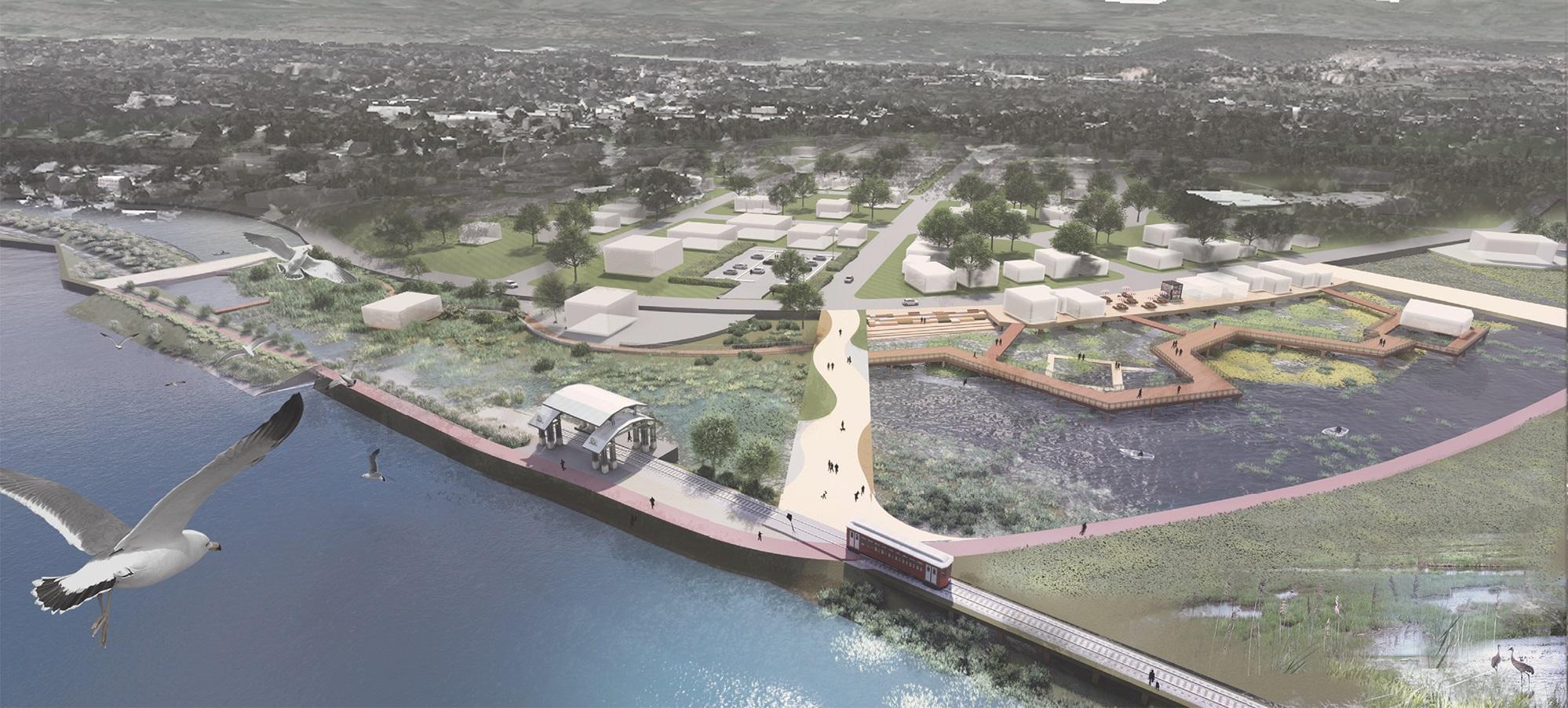 Digital image of a landscape architecture design