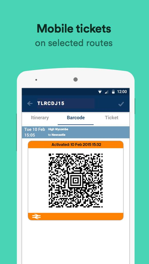 Trainline – times & tickets- screenshot