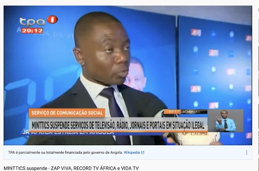 Angolan government bans Brazilian TV channel, alleging 'irregularities'