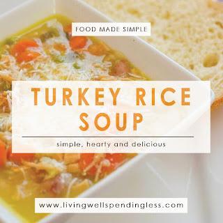 Turkey & Rice Soup.