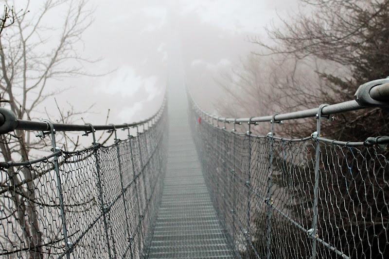 Ponte tibetano nella nebbia di AlexSandra