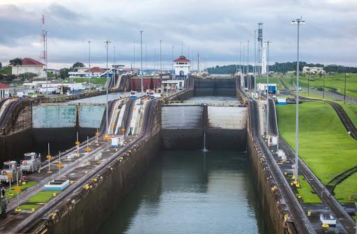 panama-canal-forward-view-first-lock.jpg - A view of the Panama Canal from the first lock.