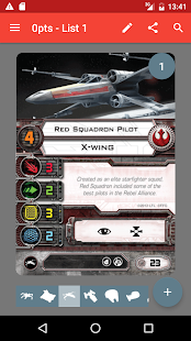 X-Wing List Builder - náhled