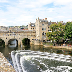 Pulteney Bridge, Bath, UK by Michele Williams - City,  Street & Park  Historic Districts ( water, uk, arch, bath, pulteney bridge, architecture,  )