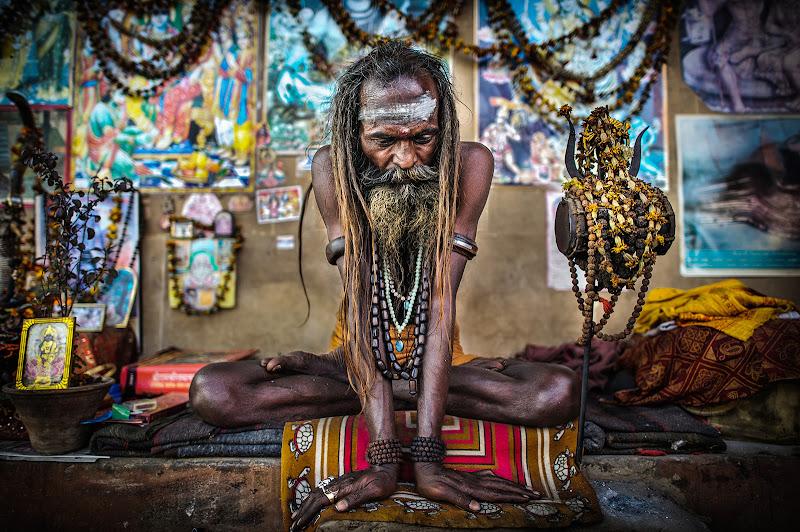 Un sadhu a Varanasi di ianna