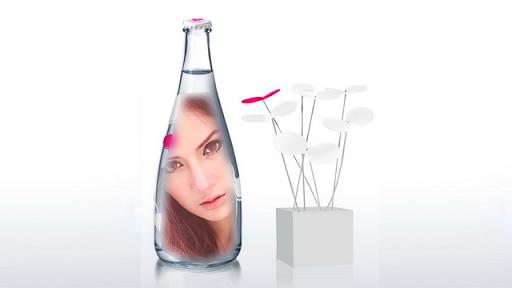 Bottle Glass Photo Frames
