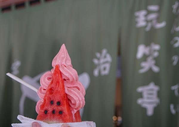好拍好吃!高雄最有造型西瓜霜淇淋~高雄超夯IG打卡美食-宇治.玩笑亭