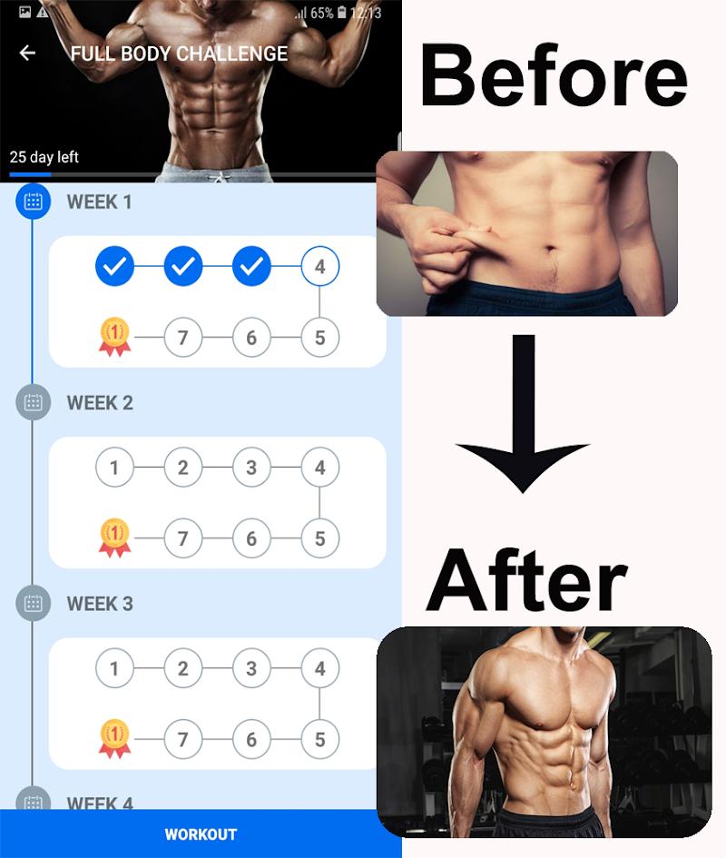 Home Workouts Gym Pro (No ad) Screenshot 1