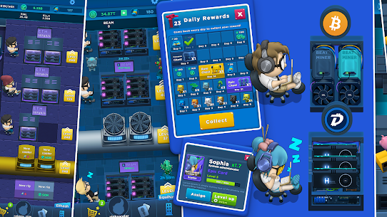 Crypto Idle Miner – Bitcoin Tycoon Mod Apk 1.7.2 (Unlimited Currency) 3