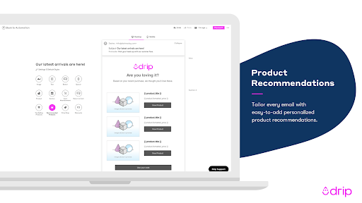 Drip and Shopify Integration Screenshot