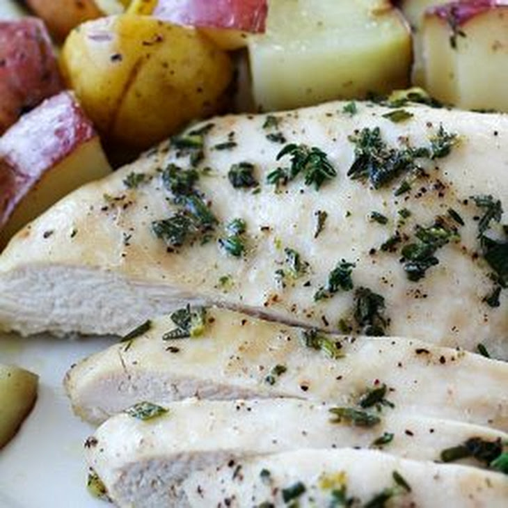 One-Pan Herb Baked Chicken and Potatoes Recipe