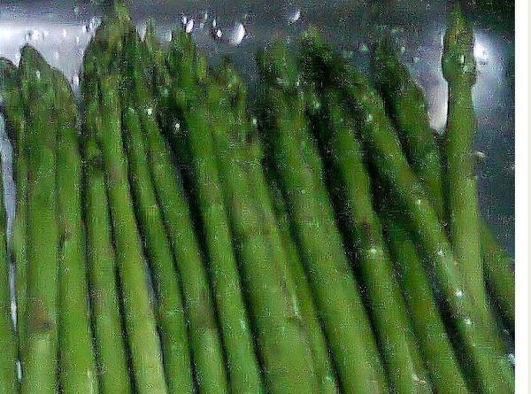 Cut hard ends of asparagus.