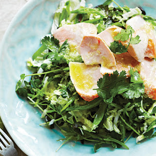 Grilled Salmon With Crunchy Cabbage Salad.
