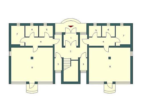Budynek wielorodzinny-MDM6 - Rzut parteru