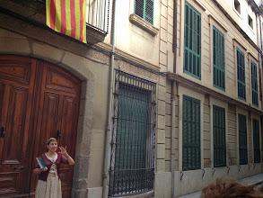 Photo: Davant la casa on passava els estius Salvador Espriu