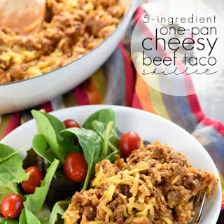 One-Pan Cheesy Beef Taco Skillet {Homemade Hamburger Helper}