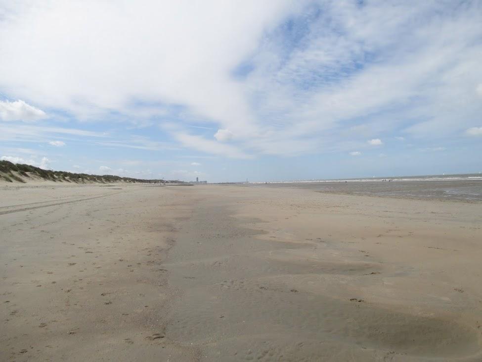 strand tussen Bredene en Oostende