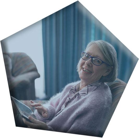 Care Recipient Using Tablet