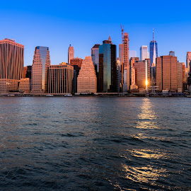 Morning Manhattan by Hanif Khosravi - Uncategorized All Uncategorized ( sunrise, manhattan, nyc, downtown, ny, eastcost, man made, canon usa, building, canon, morning )