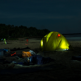 pantai sawarna by Jamani Uyee - Landscapes Beaches ( pantai, malam )