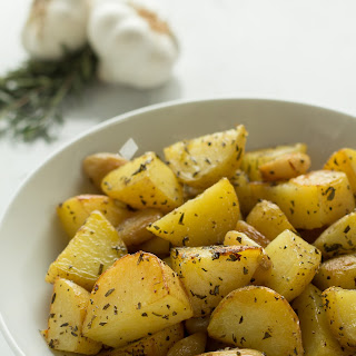 Crispy Roasted Garlic and Rosemary Potatoes.