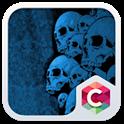 Blue Skull Theme C Launcher icon