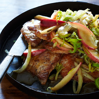 Pork Chops with Apple, Fennel and Sage Recipe