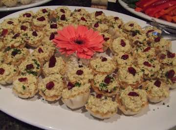 Apple Chicken Salad in baked Phyllo Cups