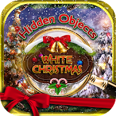 Hidden Object White Christmas Holiday Puzzle Game