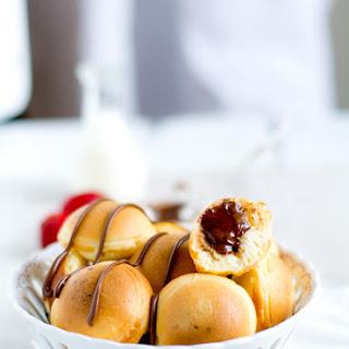 Nutella Stuffed Pancake Poppers
