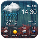 Local reliable temperature, weather widget&alerts icon