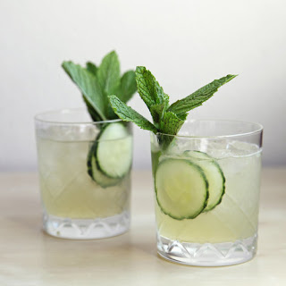 Cucumber-Mint Gin Cocktail.