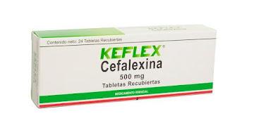 Keflex 500Mg Tabletas   Caja x24Tab. Farma Cefalexina