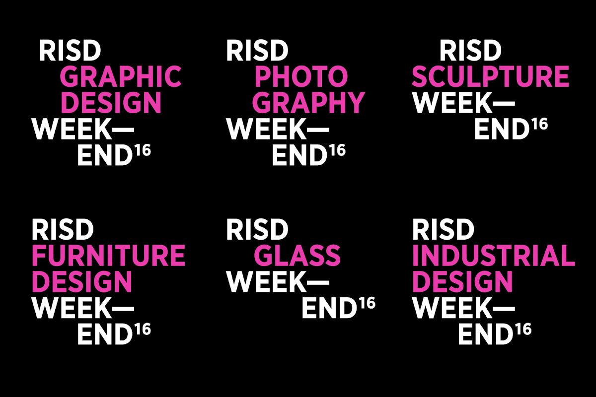 Micah Barrett RISD Weekend Identity