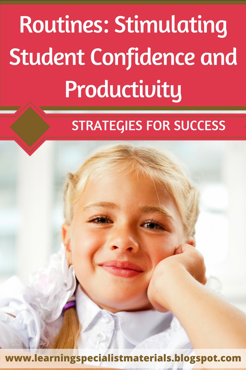 Routines: Stimulating Student Confidence and Productivity