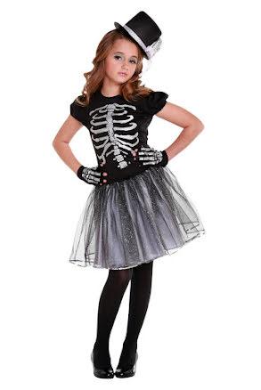 Skelettklänning med tyllkjol, barn
