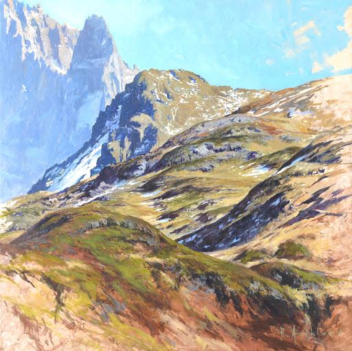 Dru de Mayères. oil on canvas, 60x60cm