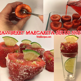 Strawberry Margarita Jello Shooters.