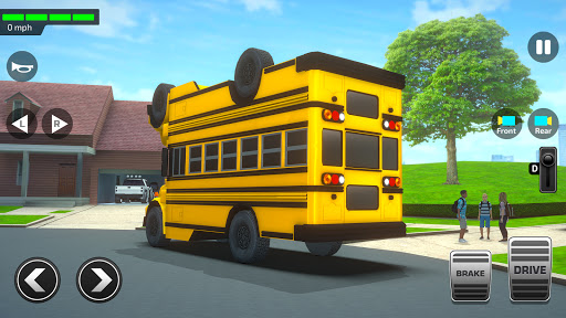 Super High School Bus Driving Simulator 3D - 2020 2.5 screenshots 2
