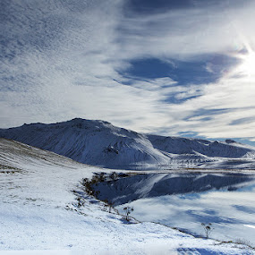Iceland in mood  by Þorsteinn Ásgeirsson - Landscapes Waterscapes ( water, reflection, sky, mountain, mood, landscape )