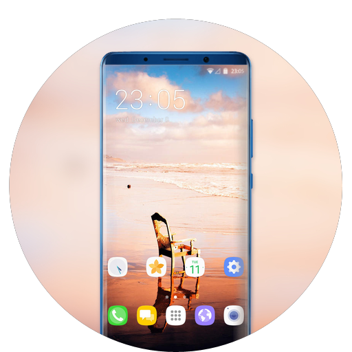Theme for Mi mix 2s enjoy ocean sunset wallpaper icon
