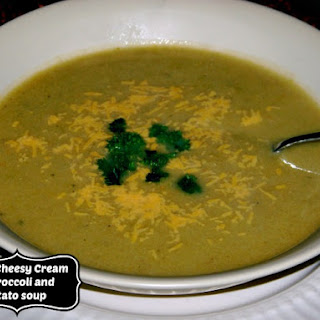 Cheddar Cheesy Broccoli and Potato Soup
